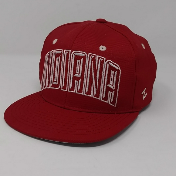 Team Color NCAA Zephyr Indiana Hoosiers Youth Tc Villain Snapback Hat Youth Adjustable